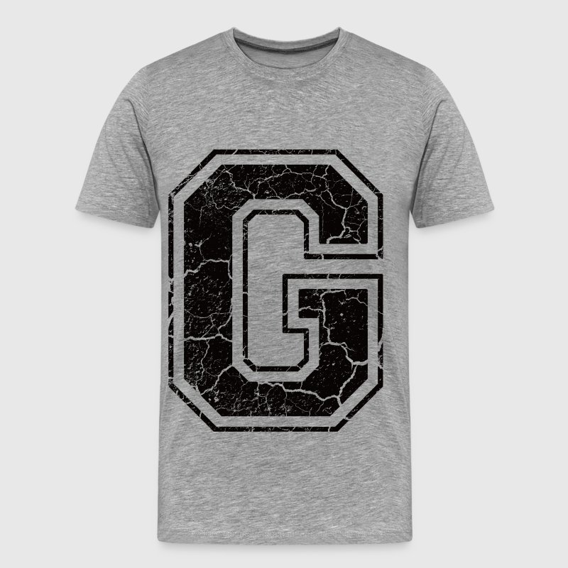 Letter G in the grunge look - Men's Premium T-Shirt