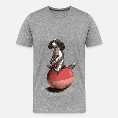Spacehopper Cocker Spaniel Spacehop - Men's Premium T-Shirt