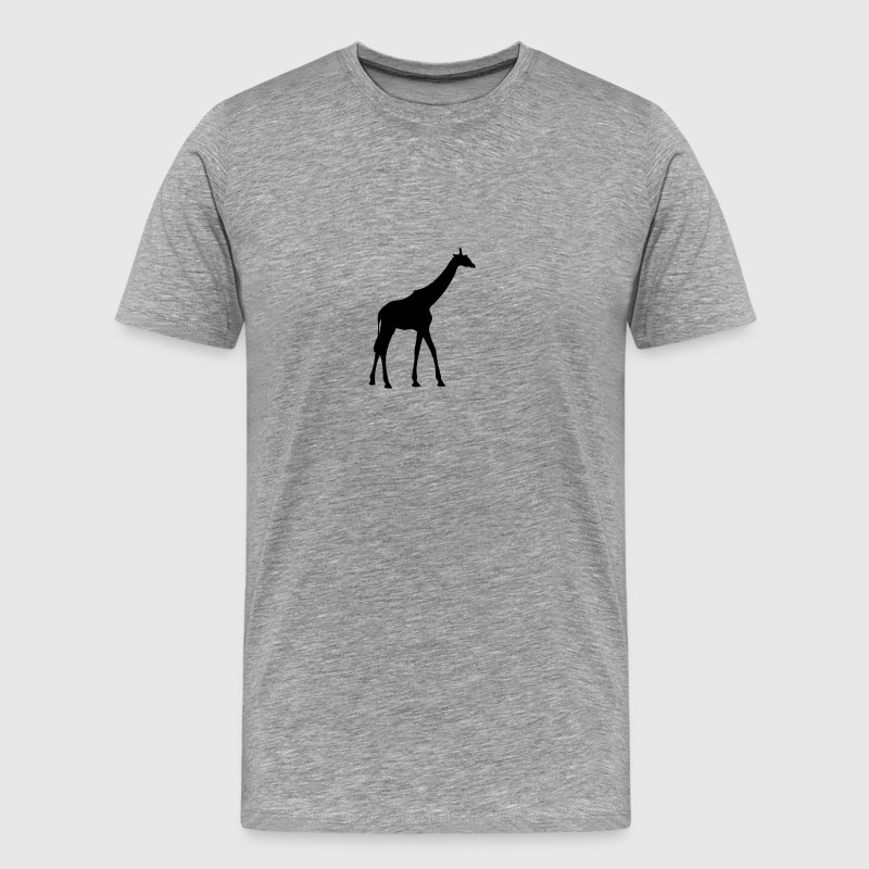 Giraffe outline shadow go design - Men's Premium T-Shirt