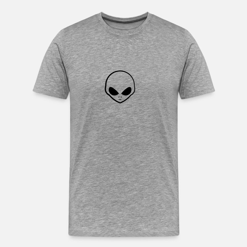 Cool T-Shirts - Cool Grey Alien Kopf Logo - Men's Premium T-Shirt heather grey