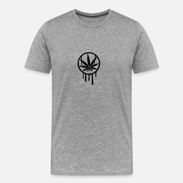 Cool Weed Cool Weed Stempel Design - Men's Premium T-Shirt