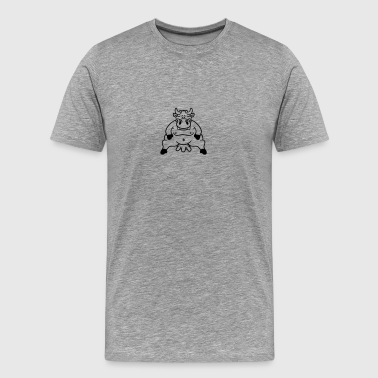 Fat Bike Fat cow sitting fat udder - Men's Premium T-Shirt