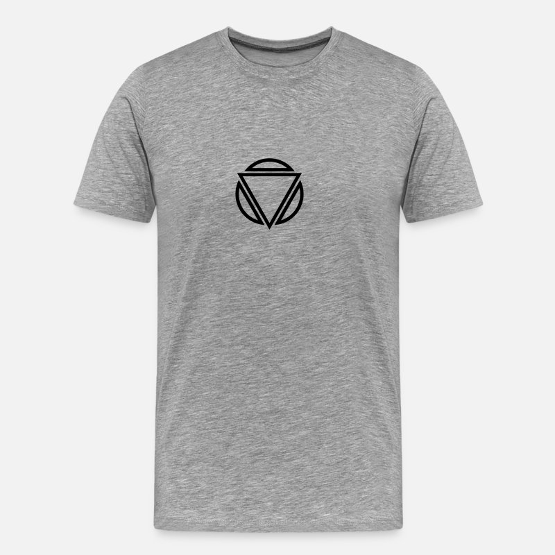 Triangles T-Shirts - Triangle circle logo - Men's Premium T-Shirt heather grey