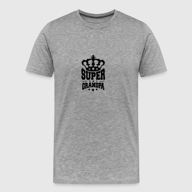 King King Crown Super Grandpa logo - Men's Premium T-Shirt