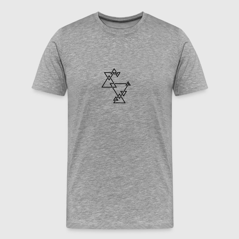Cool Hipster Triangle Logo Design - Men's Premium T-Shirt