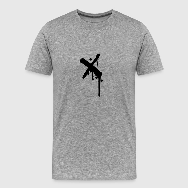 X cross crosses graffiti drops spray - Men's Premium T-Shirt