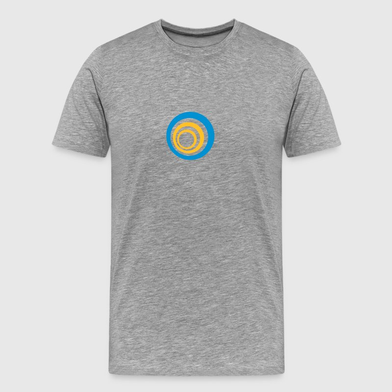 Circle spiral swirl logo - Men's Premium T-Shirt