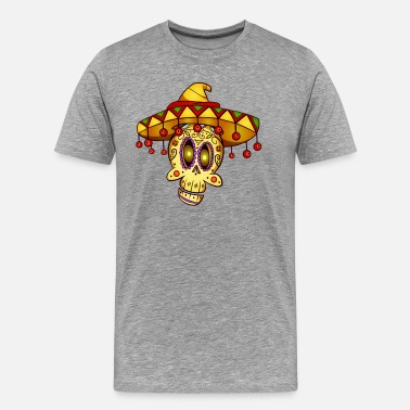 Day Day of the Dead Mexico skull La Catrina gift - Men's Premium T-Shirt