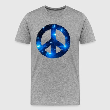 Símbolos Space Peace sign, star, galaxy, light, universe,  - Camiseta premium hombre