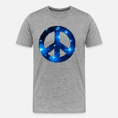 Esotérico Símbolos Space Peace sign, star, galaxy, light, universe,  - Camiseta premium hombre