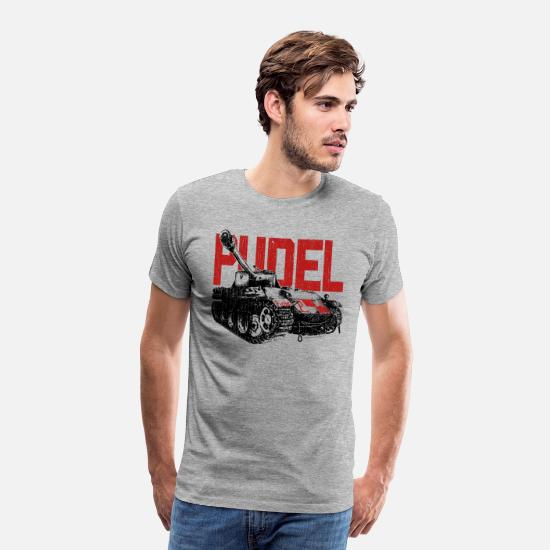 World Of Tanks T-Shirts - WoW PUDEL Tank - Men's Premium T-Shirt heather grey