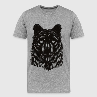 Bear - Black & White - Männer Premium T-Shirt