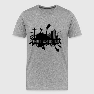 Urban Exploration Urban Exploration Black - Männer Premium T-Shirt
