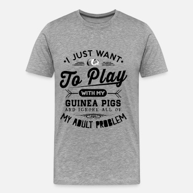 Pig Play with guinea pig - T-shirt Premium Homme