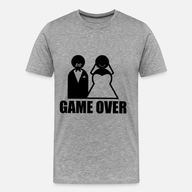 Bride And Groom Game Over weeding - Männer Premium T-Shirt