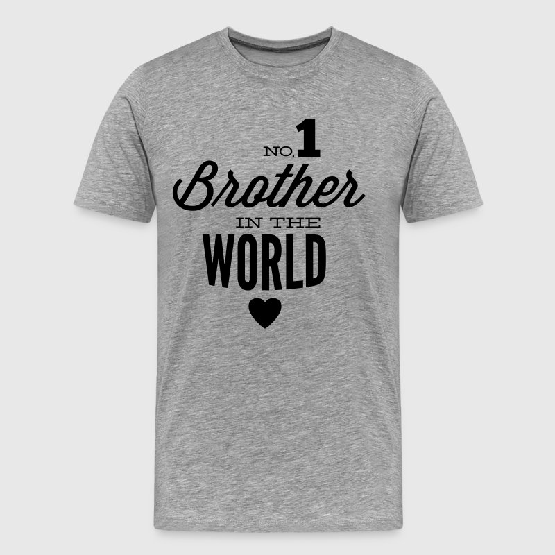 no1 brother of the world - T-shirt Premium Homme