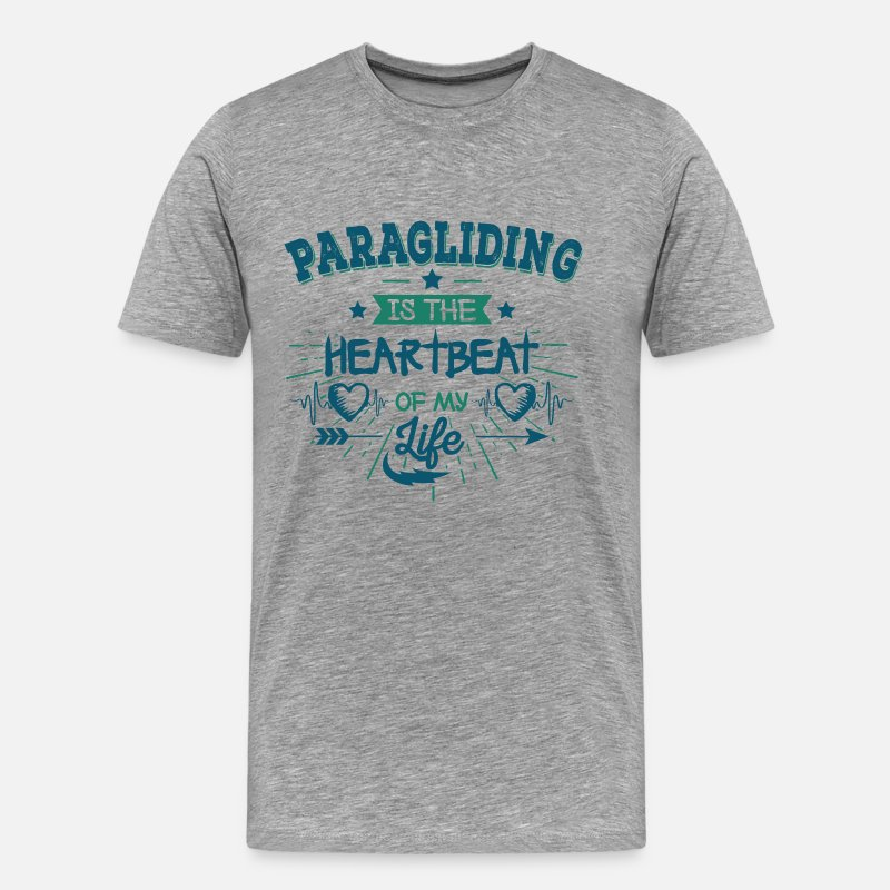 Image T-Shirts - Cool Funny Cute Paragliding Sayings Shirt Gift - Men's Premium T-Shirt heather grey