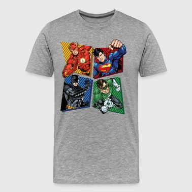 DC Comics Justice League Superheroes Group - Premium T-skjorte for menn