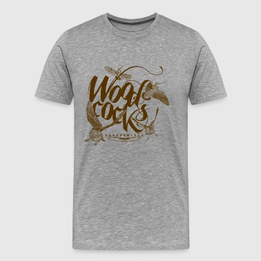 woodcocks_on_white - Camiseta premium hombre