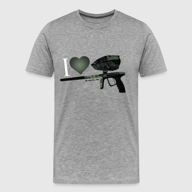 I Love Paintball Camo - T-shirt Premium Homme