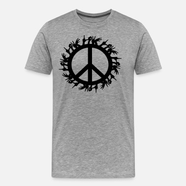 Green Peace ++ ++ Love & Peace - T-shirt Premium Homme