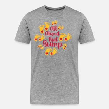 Fußabdruck Kinder All About that Bump - Baby - Kind - Fussabdrücke - - Männer Premium T-Shirt