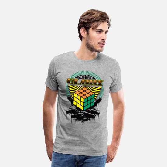 Officialbrands T-paidat - Rubik's For The Glory - Miesten premium t-paita harmaasävyinen