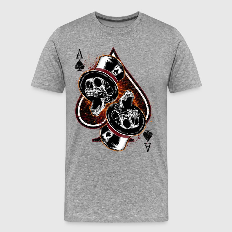 Pik As Skulls - Männer Premium T-Shirt