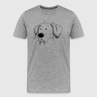 Weimaraner dog sketch I head I dog head gift - Men's Premium T-Shirt