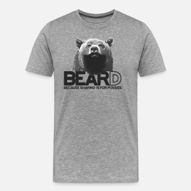 Ours Barbe Bear and beard - Ours avec barbe - T-shirt Premium Homme