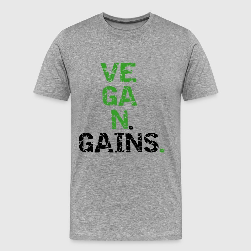 Vegan Gains - Men's Premium T-Shirt