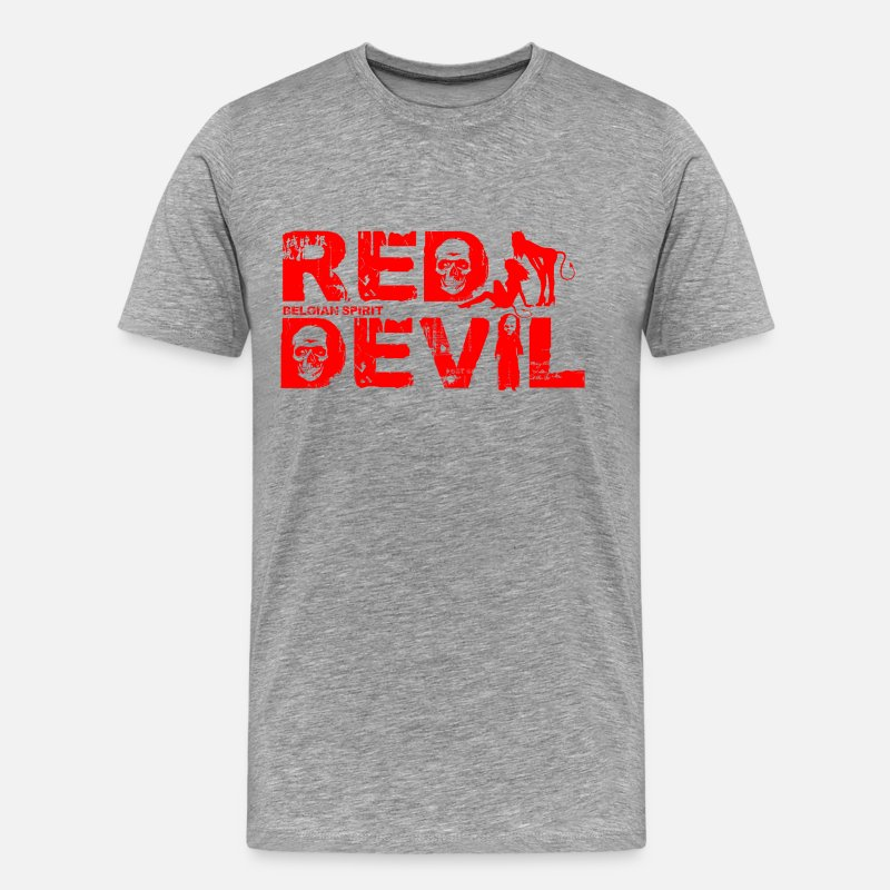 Red Devils T-shirts - BELGIAN-RED-DEVIL - T-shirt premium Homme gris chiné