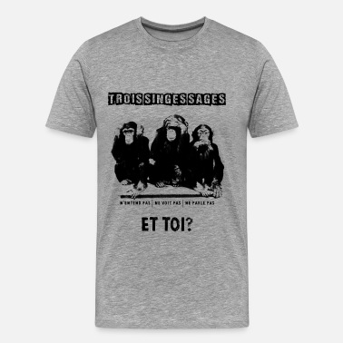 Trois Singes Three wise monkeys - T-shirt Premium Homme