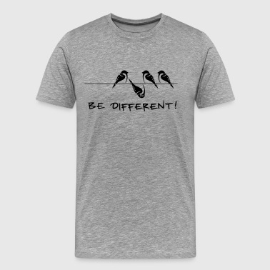 Sparrow Sparrow bird be different Be different cool gift - Men's Premium T-Shirt