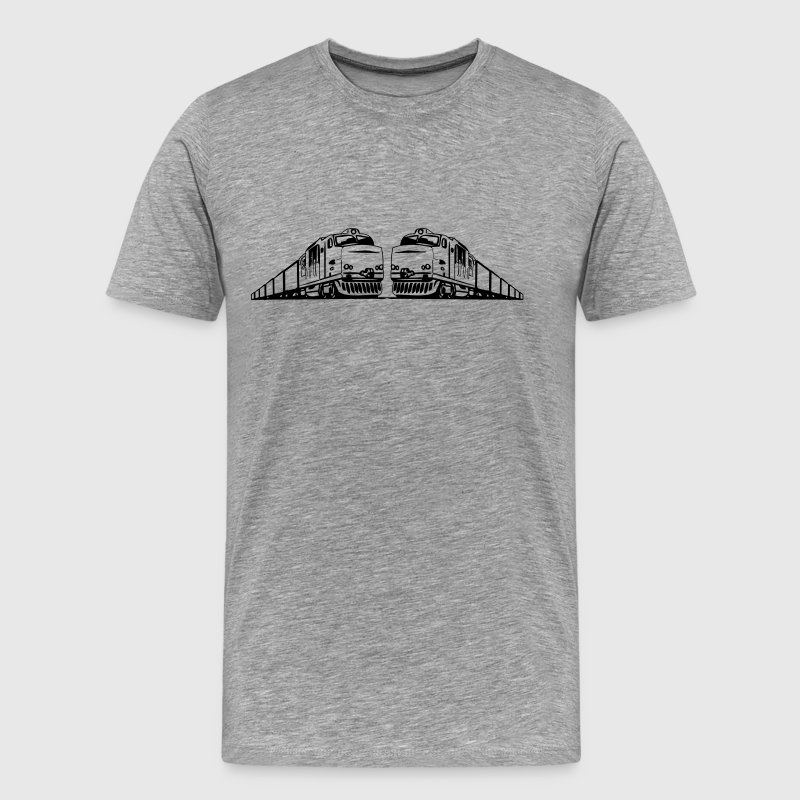 Freight train railway - Men's Premium T-Shirt