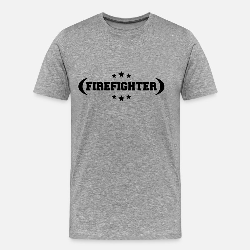 Emergency T-Shirts - Feuerwehr Firefighter Logo Design - Men's Premium T-Shirt heather grey