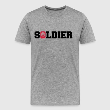 General Sergant soldat logodesign - Premium T-skjorte for menn