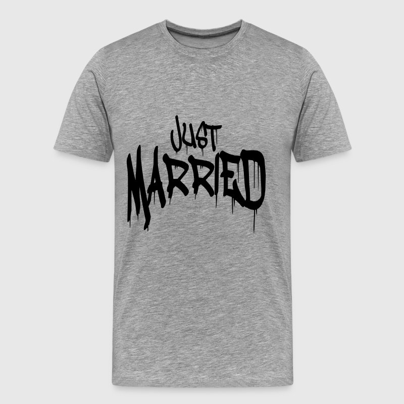 Graffiti Just married funny Logo - Men's Premium T-Shirt