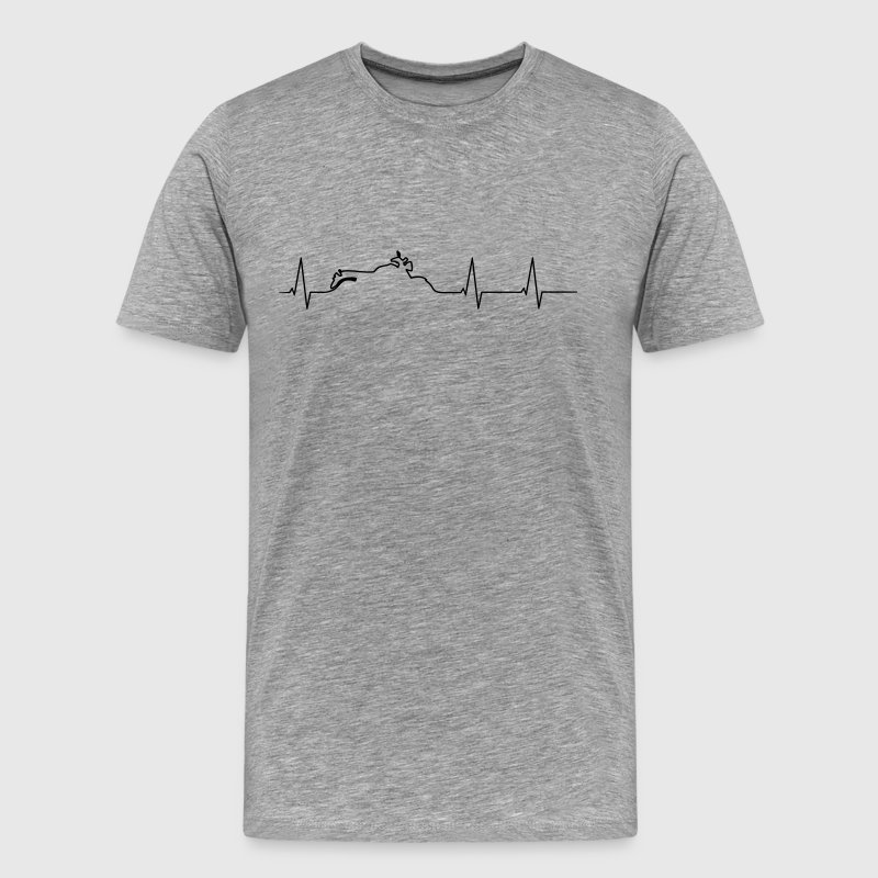 Heartbeat motorcycle Triumph - Men's Premium T-Shirt