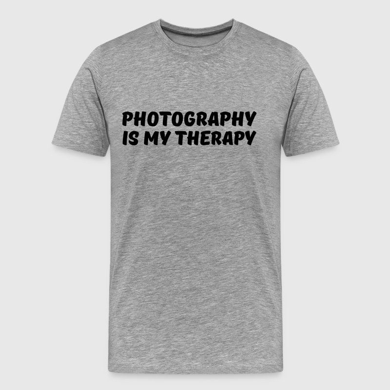 Photography is my therapy - Men's Premium T-Shirt