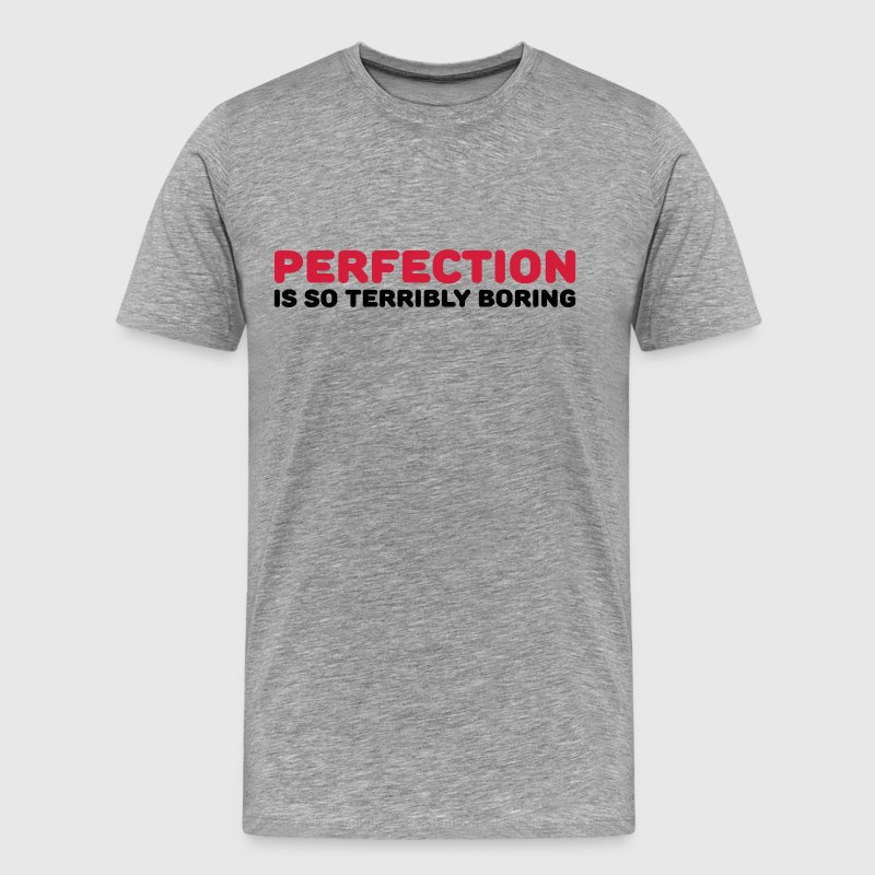 Perfection is so terribly boring - Men's Premium T-Shirt