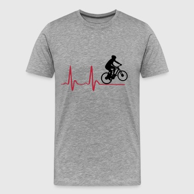 Cycler & Heartbeat, Cycling, EKG, ECG - Men's Premium T-Shirt