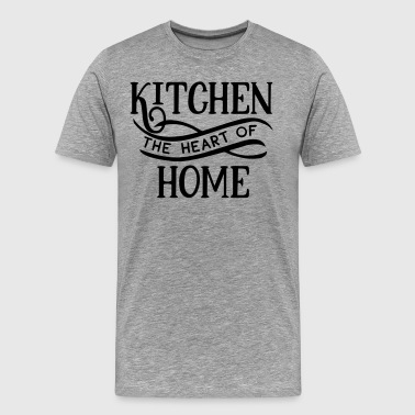 Youtuber Kitchen The Heart Of Home - Cook - Kitchen - Food - Men's Premium T-Shirt