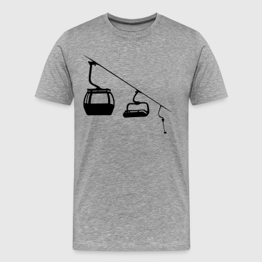 Lifting Evolution ski lift - Men's Premium T-Shirt