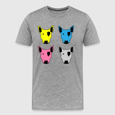 Pit Bull Face CMYK - Men's Premium T-Shirt