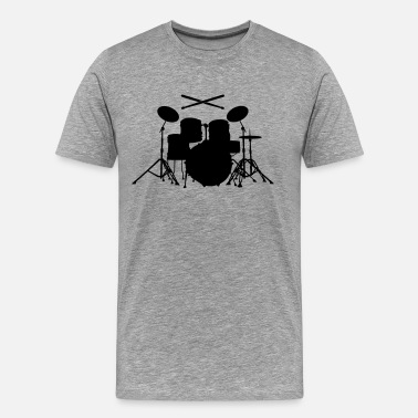 Drums Drums with sticks  - Men's Premium T-Shirt