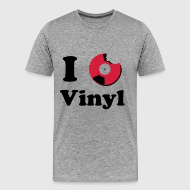 I Love Vinyl I Love Vinyl Music - Men's Premium T-Shirt