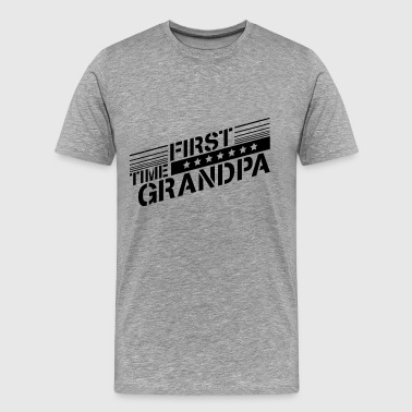 First Time Grandpa First Time Grandpa Logo - Men's Premium T-Shirt