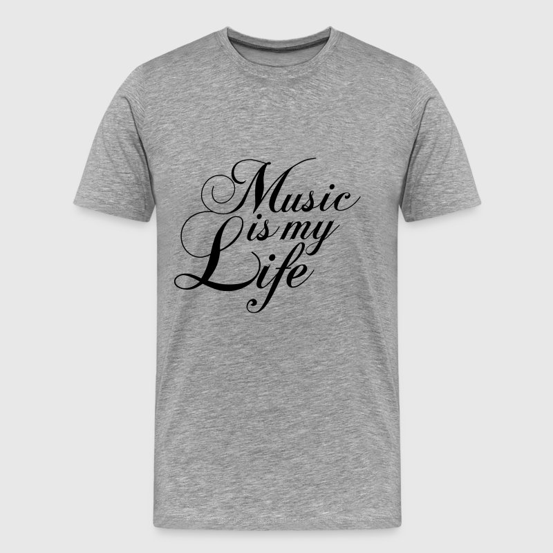 Cool Music is my Life Text Logo - Men's Premium T-Shirt