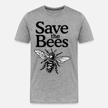 Save The Planet Save The Bees Beekeeper Quote Design (two-color) - Miesten premium t-paita